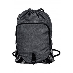 Polyester Oxford Heather Sack Pack - BKSP100
