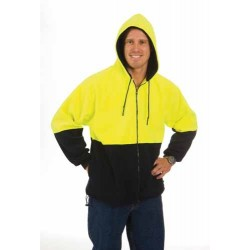 300gsm Polyester HiVi Two Hone Full Zip Polar Fleece Hoodie - 3927
