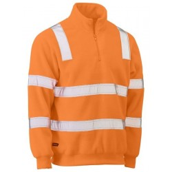 TAPED HI VIS RAIL POLAR FLEECE JUMPER - BK6816T