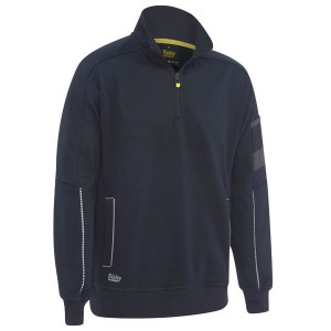 1/4 ZIP WORK FLEECE PULLOVER - BK6924