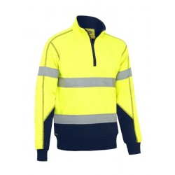 TAPED HI VIS FLEECE PULLOVER WITH SHERPA - BK6987T