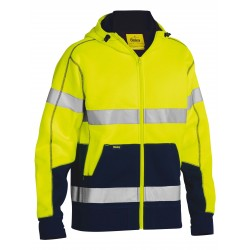 TAPED HI VIS FLEECE HOODIE WITH SHERPA - BK6988T