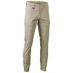 STRETCH COTTON DRILL CARGO CUFFED PANTS - BPC6028