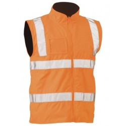TAPED HI VIS RAIL WET WEATHER VEST - BV0364T