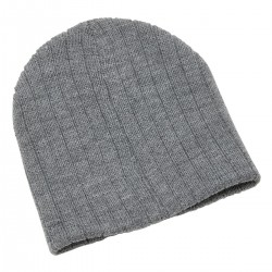 Heather Cable Knit Beanie - 4455
