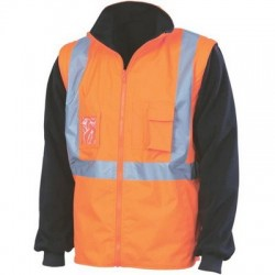 "HiVis ""4 in 1"" Zip Off Sleeve Reversable Vest, 'X' Back With Additional Tape On Tail - 3990"