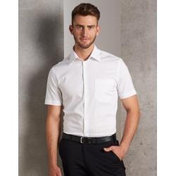Mens Cotton/Poly Stretch Short Sleeve Shirt - M7020S