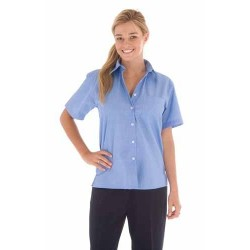 110gsm Polyester Cotton Ladies Chambray Shirt, S/S - 4211