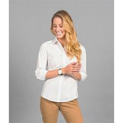 Womens 3/4 Sleeve Dot Print Shirt - 1743WZ