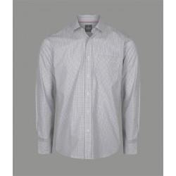Mens Long Sleeve Micro Check Shirt - 1895L