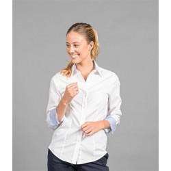 Womens Long Sleeve Fine Oxford Shirt - 1899WL