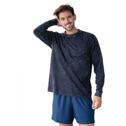 Mens' Stone Wash Long Sleeve Tee - T227LS