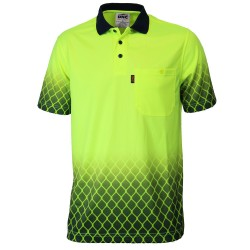 HIVIS SUBLIMATED METAL MESH POLO - 3551