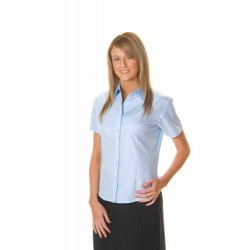 120gsm 60% Cotton Ladies Tonal Stripe Shirt, S/S - 4235