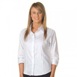 120gsm 60% Cotton Ladies Tonal Stripe Shirt, 3/4 Sleeve - 4236