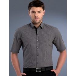 Mens Slim Fit S/S Small Check Shirt - 875