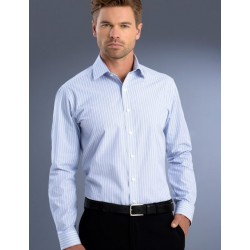 Mens Slim Fit L/S Pinfeather - 818