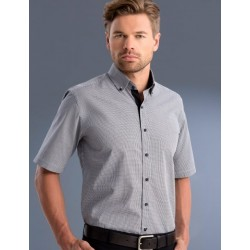 Mens Slim Fit S/S Small Check Shirt - 873