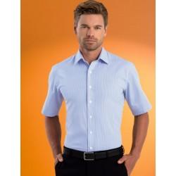Mens Sretch Slim Fit S/S Bengal Stripe Shirt - 621