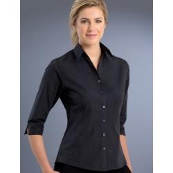 Womens Slim Fit 3/4 Dark Stripe Shirt - 736