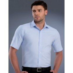 Mens Slim Fit S/S Pinpoint Oxford Shirt - 839