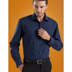 Mens L/S Poplin shirt - 600