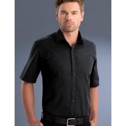 Mens Slim Fit S/S Dark Stripe Shirt - 837
