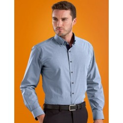 Mens Slim Fit L/S Mico Check Shirt - 634