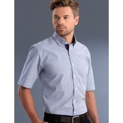 Mens Slim Fit S/S Check Shirt - 877