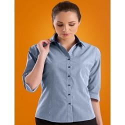 Womens Slim Fit 3/4 Micro Check Shirt - 534