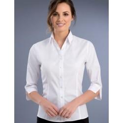 Womens Slim Fit 3/4 Oxford Shirt - 740