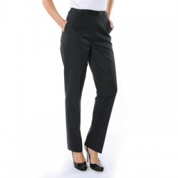 275gsm Ladies Polyester Viscose Flat Front Trousers - 4552