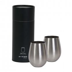 Stemless Stainless Steel Wine Glass Set - POSSWG