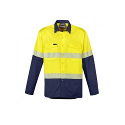 Mens Rugged Cooling Hi Vis Segmented Tape L/S Shirt - ZW229