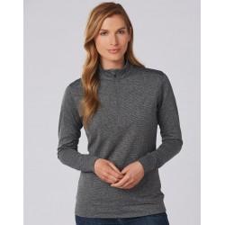 Ladies Half Zip Long Sleeve Sweat Top - FL26