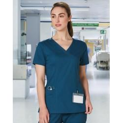 Ladies Solid Colour Short Sleeve Scrub Top - M7640