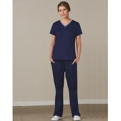 Ladies Semi-elastic waist scrub pants - M9720