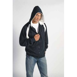 Men's Contrast Panel Fleecy Top with Hood - 5421