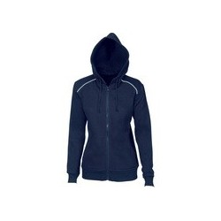 Ladies Contast Piping Fleecy Hoodie - 5426