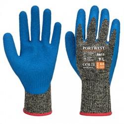 Aramid HR Cut D Latex Glove - A611