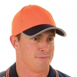 HiVis Two Tone Cap with Reflective Trim - H022