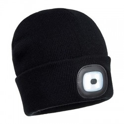 Rechargeable Twin LED Beanie - B028