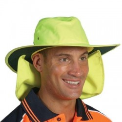 HiVis Hat with Flap - H055
