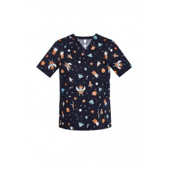 WOMENS SPACE PARTY SCRUB TOP - CST148LS