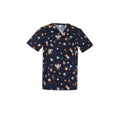 MENS SPACE PARTY SCRUB TOP - CST148MS
