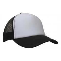 Trucker cap with 5 panel precurved peak - 3803