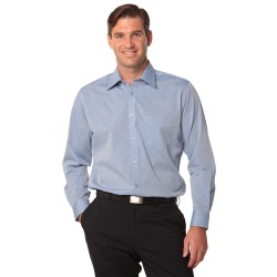 Mens Fine Chambray Long Sleeve Shirt - M7012