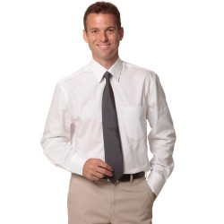 Mens Fine Twill Long Sleeve Shirt - M7030L