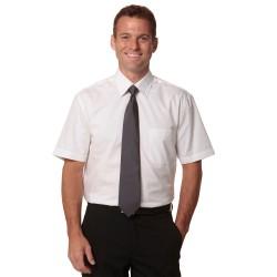 Mens Fine Twill Short Sleeve Shirt - M7030S