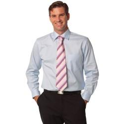 Mens Self Stripe Long Sleeve Shirt - M7100L